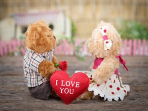 Love 7 Bear Blur Close Up