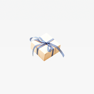 Blue White Ribbon Box