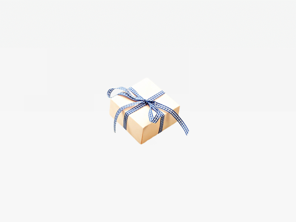 Blue White Ribbon Box
