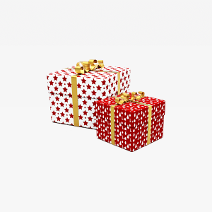 White and Red Star Gift Boxes