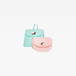 Teal and Pink Leather Crossbody Bags
