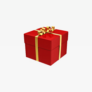 Red Gift Box Illustration