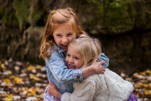 Girls Hugging Each