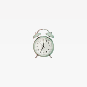 Gray Double bell Clock