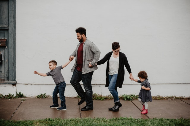 Family Of Four Walkin