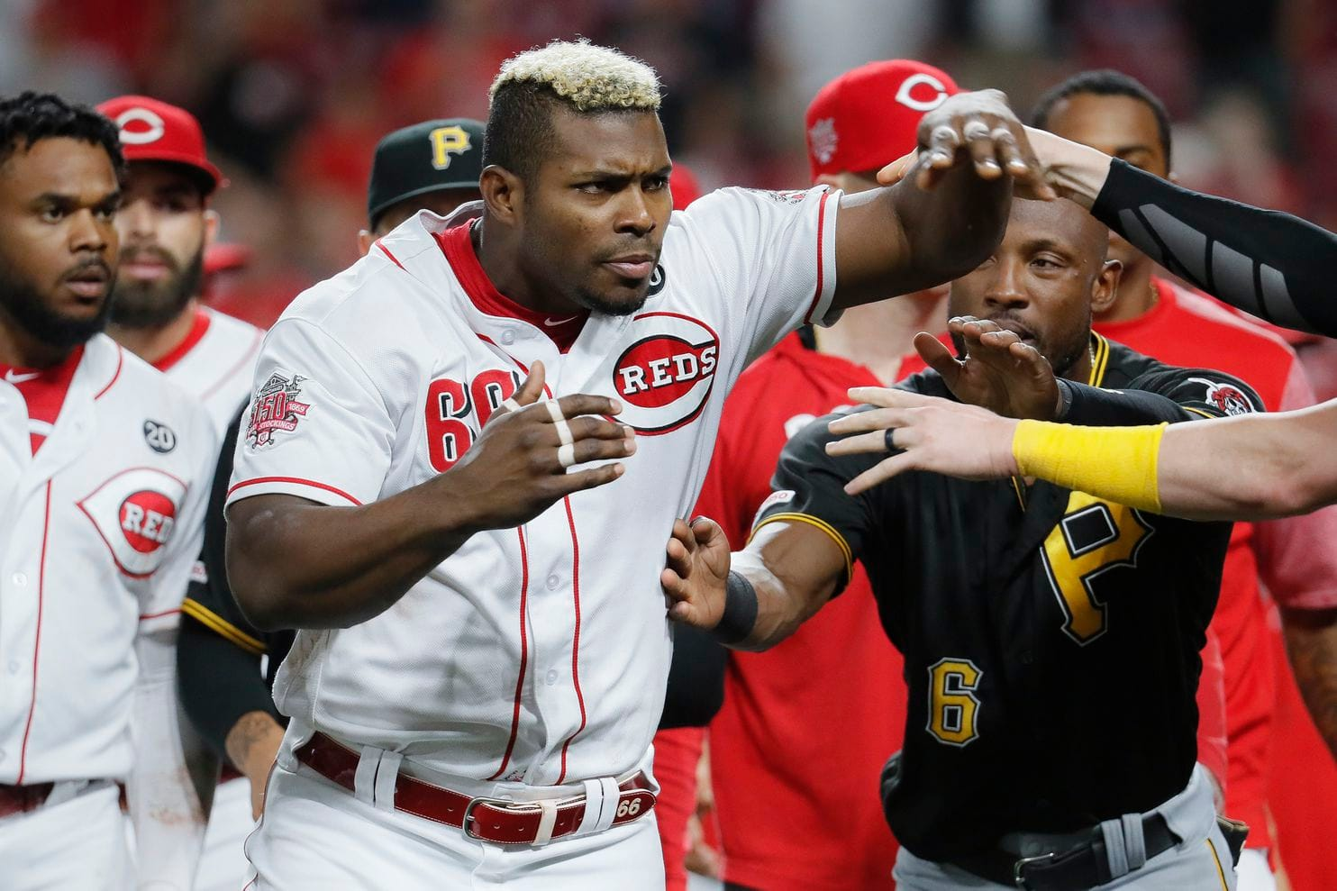 Yasiel Puig, traded to Indians, gets in a brawl in the final game with Reds