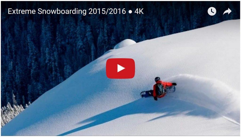 Extreme Snowboarding 2015 To 2016 4K