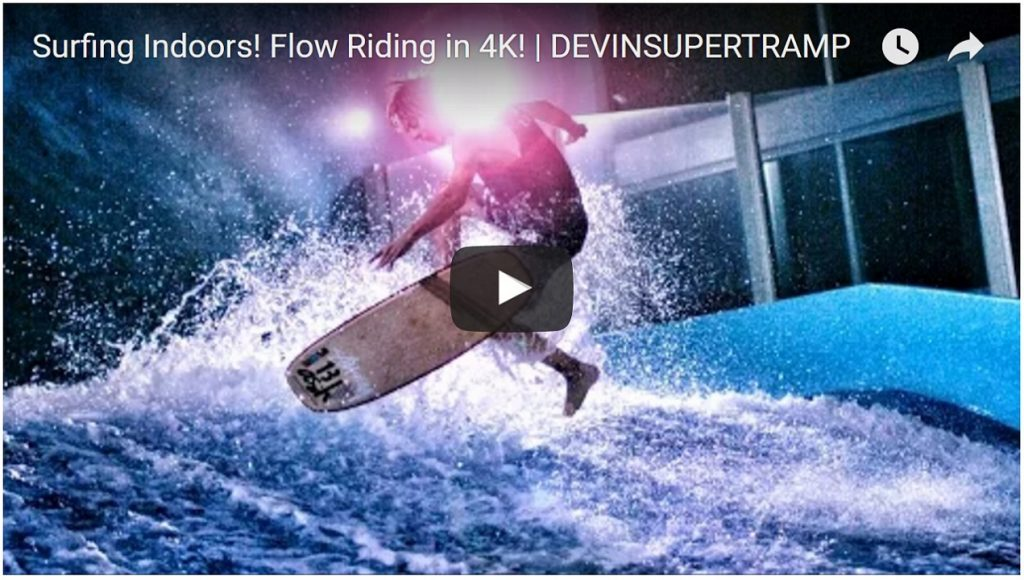 Surfing Indoors Flow Riding in 4K