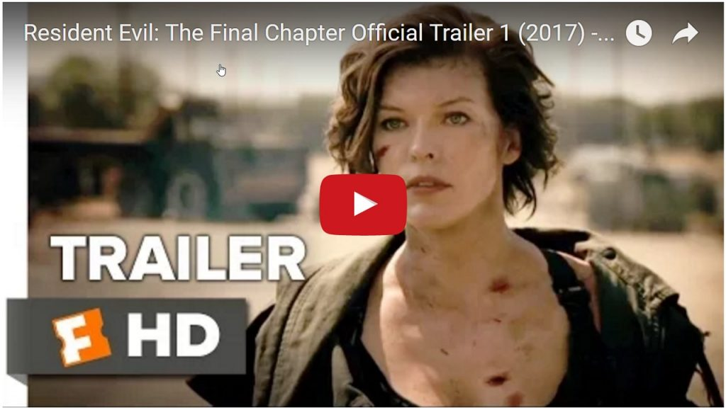 Resident Evil: The Final Chapter Official Trailer 1 (2017) – Milla Jovovich Movie