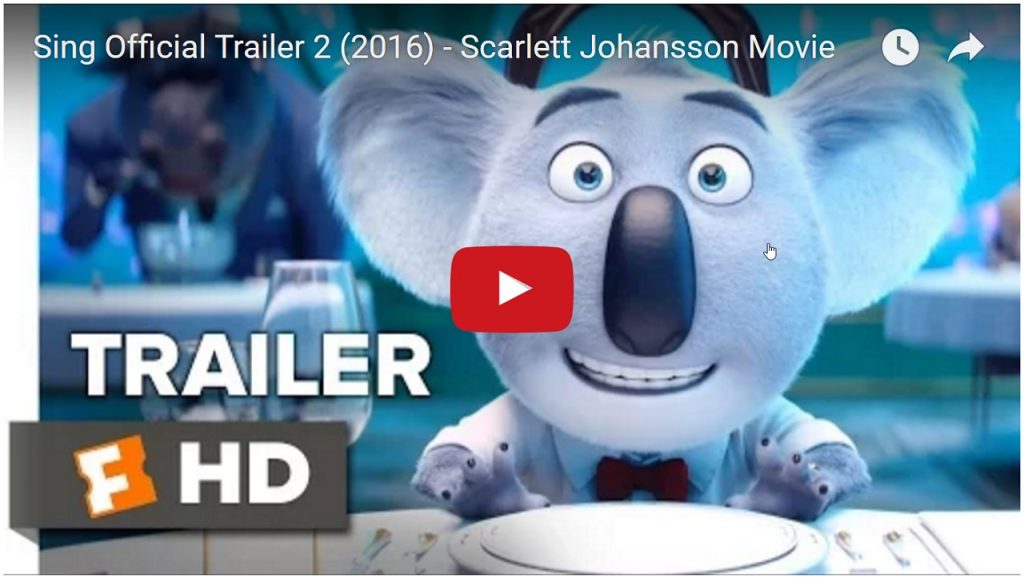 Sing Official Trailer 2 (2016) – Scarlett Johansson Movie