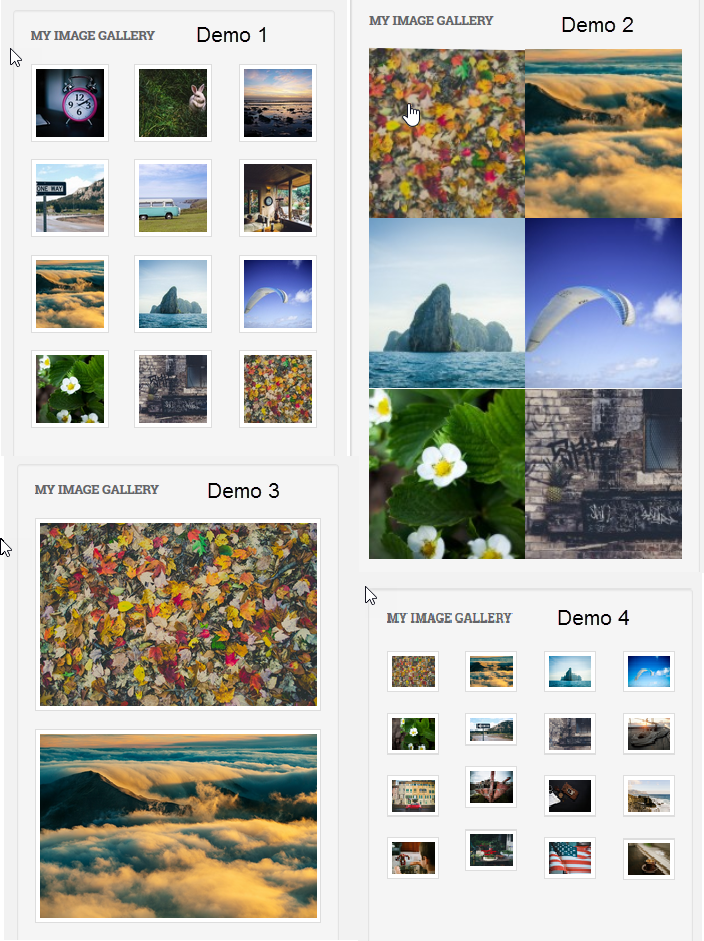 Create Image Gallery