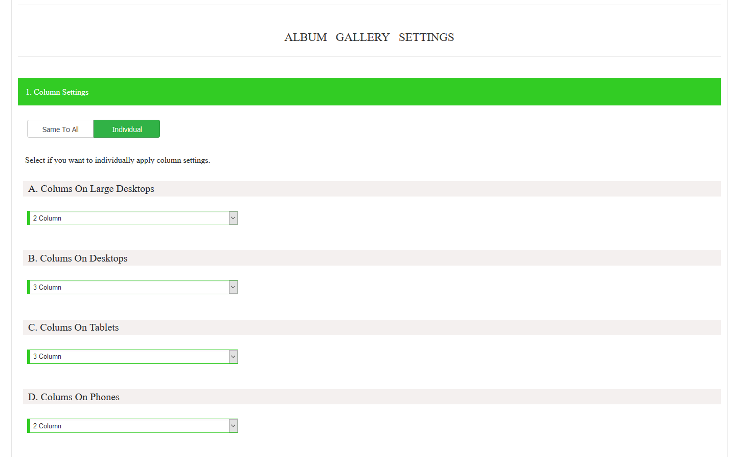 create album gallery premium 2
