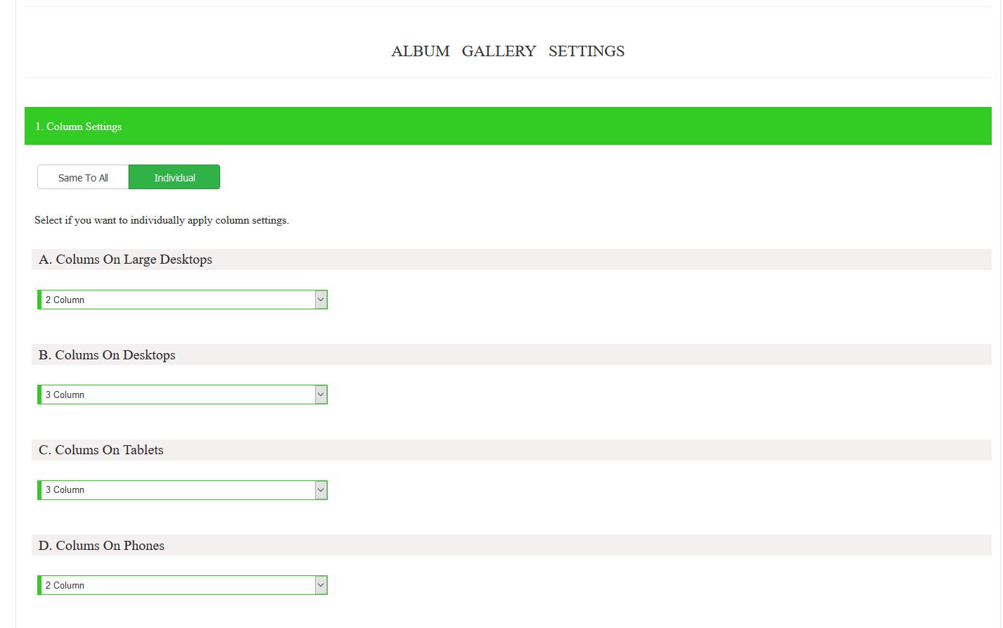 create album gallery premium 2
