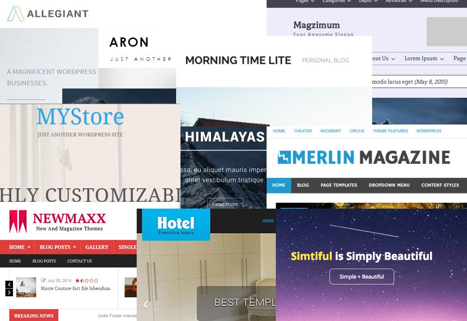 Top 10 Beautiful WordPress Themes October 2015
