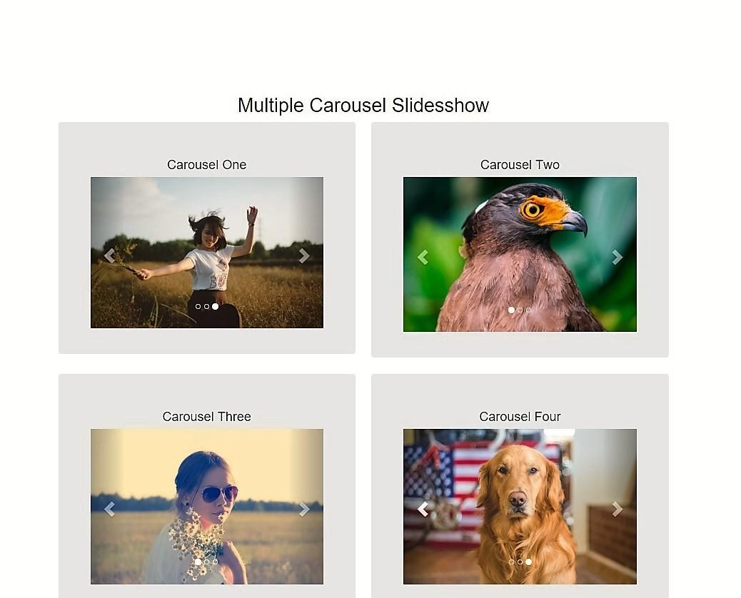 Multiple bootstrap carousel slideshow baditri Gallery