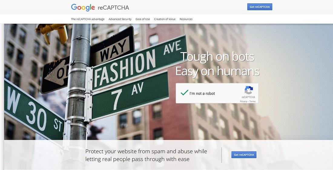 Google reCaptcha site key