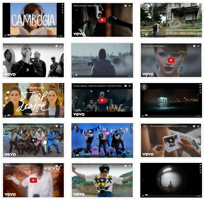 Create Video Gallery