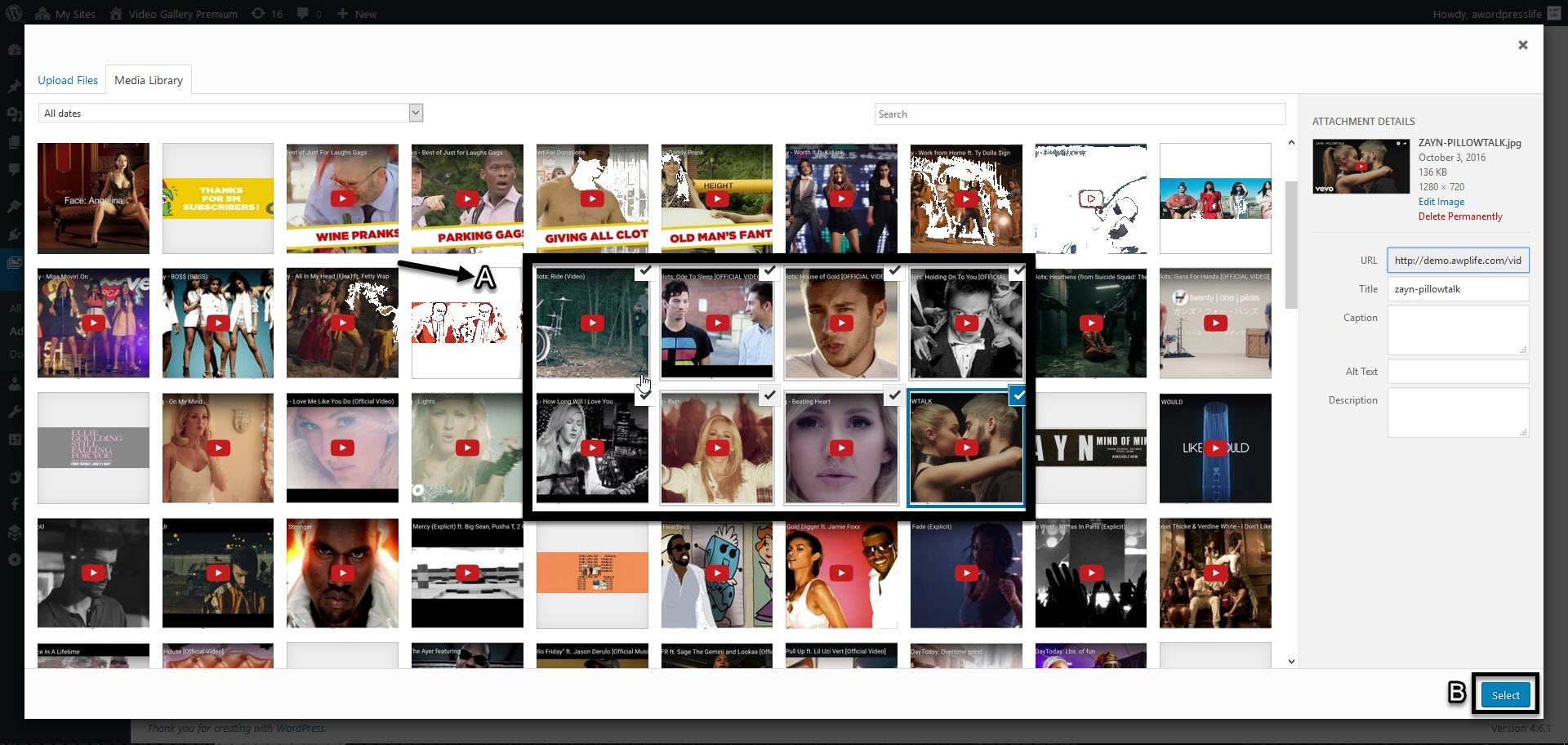 upload multiple video poster
