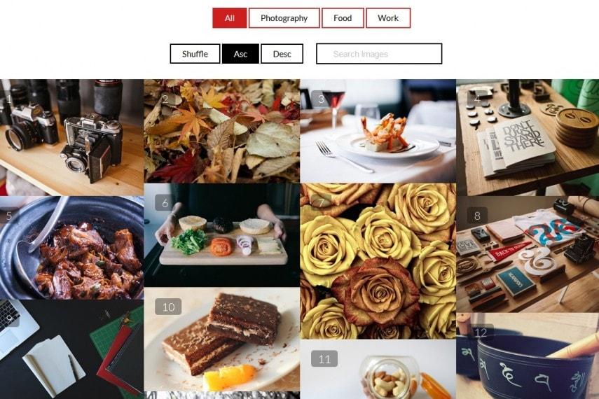 Portfolio Filter Gallery Premium