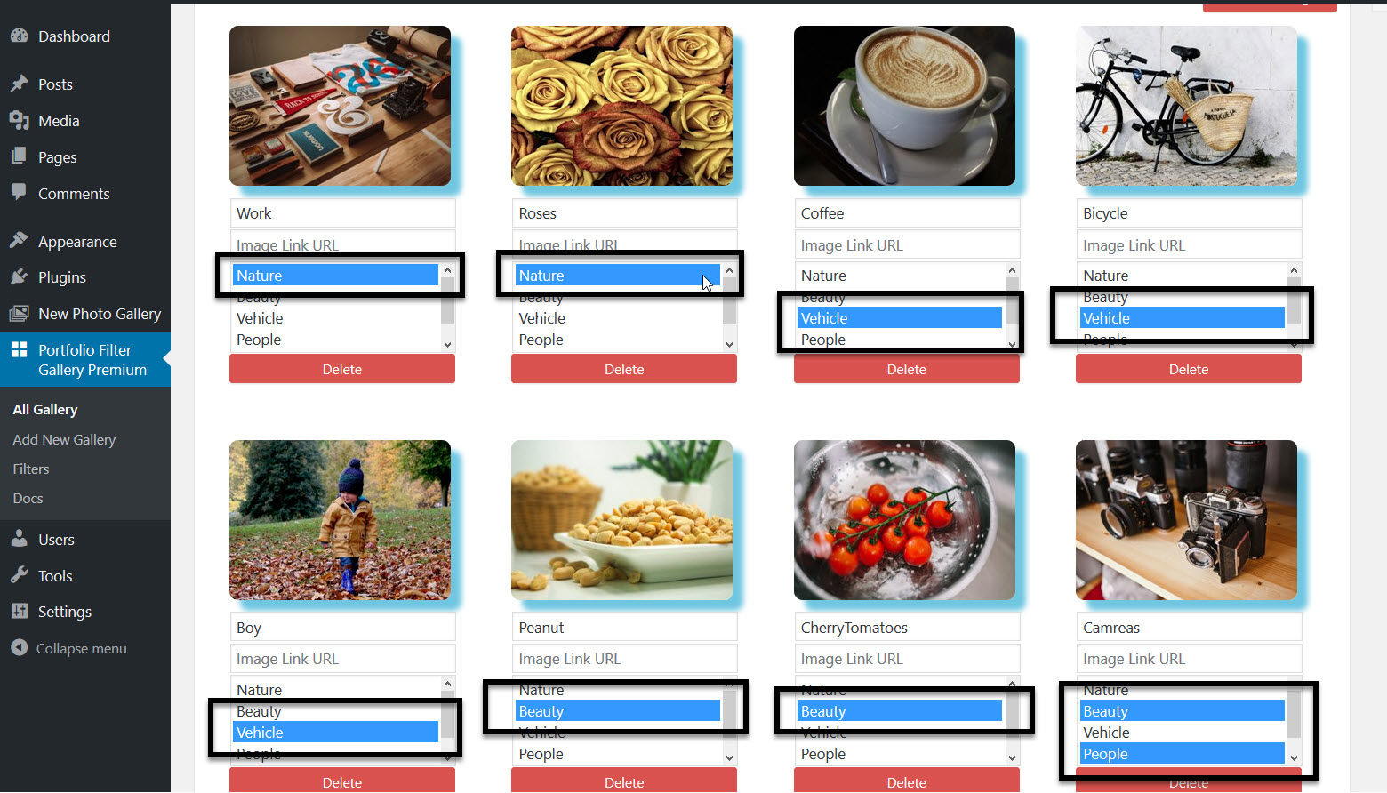 Adding Filters with Images Into Portfolio Filter Gallery
