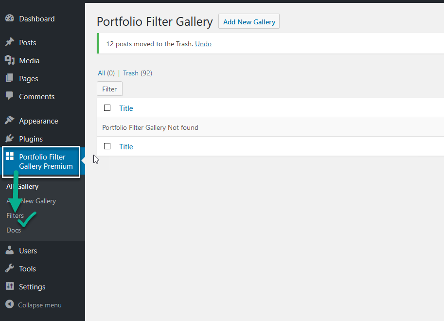 Adding Filters To Portfolio Filter Gallery
