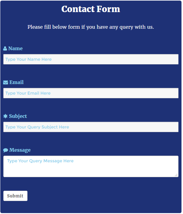 WordPress Contact Form Preview 4