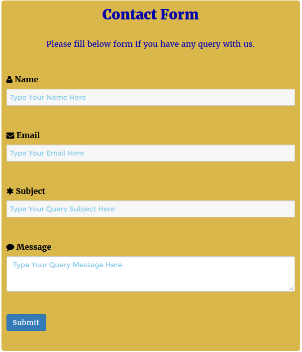 WordPress Contact Form Preview 1
