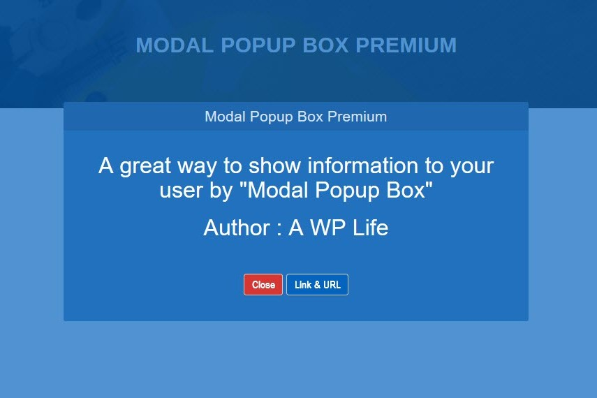 Modal Popup Box WordPress Plugin