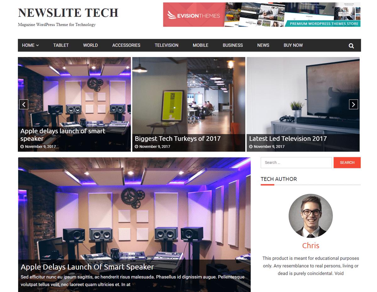 newslite-tech-premium-wordpress-theme