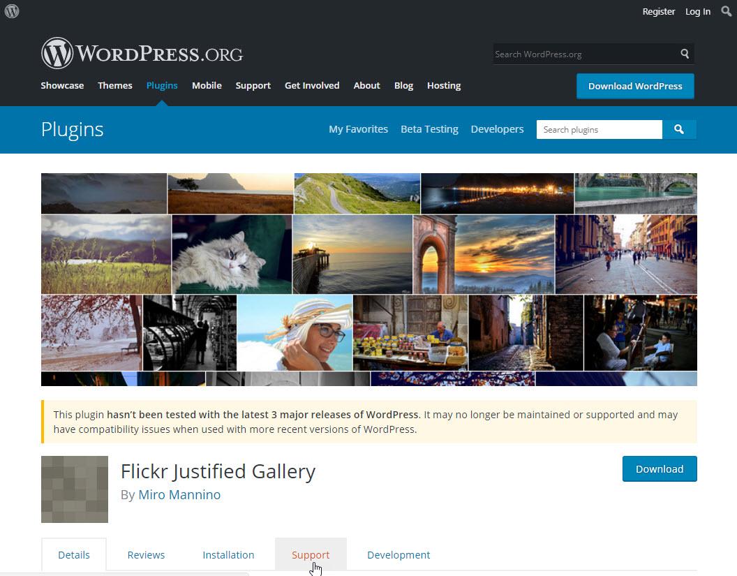 justified flickr gallery