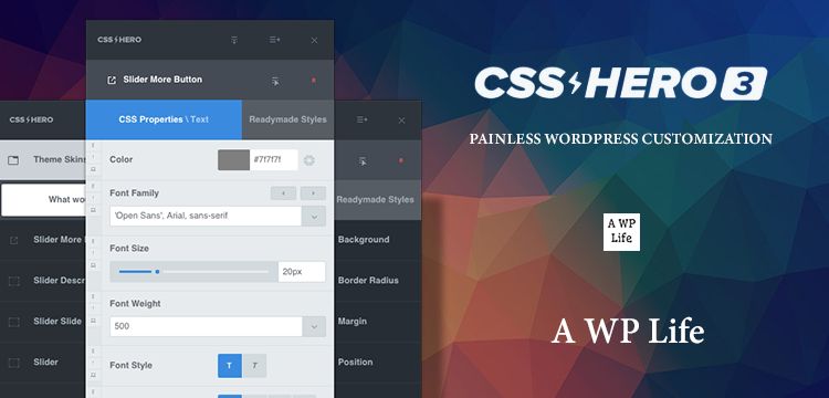 Introducing The CSS Hero 3 - A Plugin For Customizing Your WordPress Website