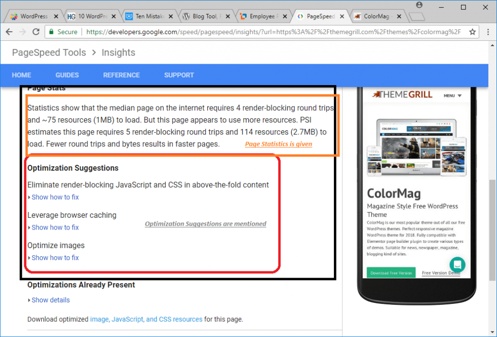 PageSpeed Insights Image 4 - A WP Life