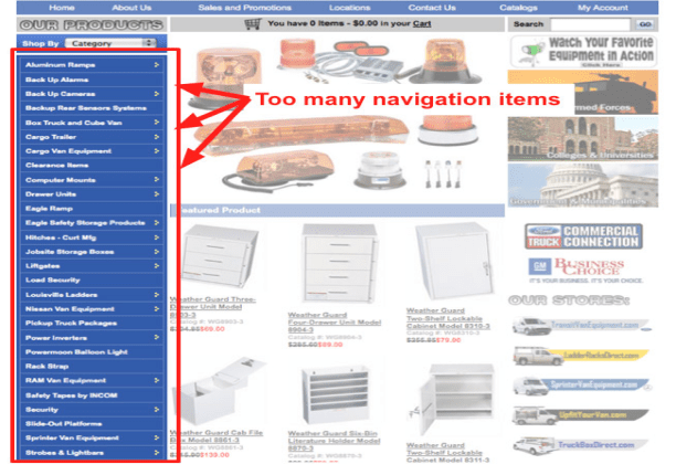 Poor Navigation Styles - A WP Life