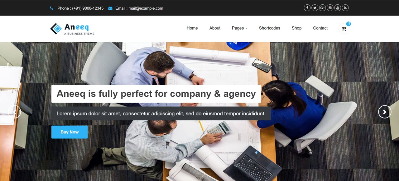 aneeq-wordpress-theme-featured-image