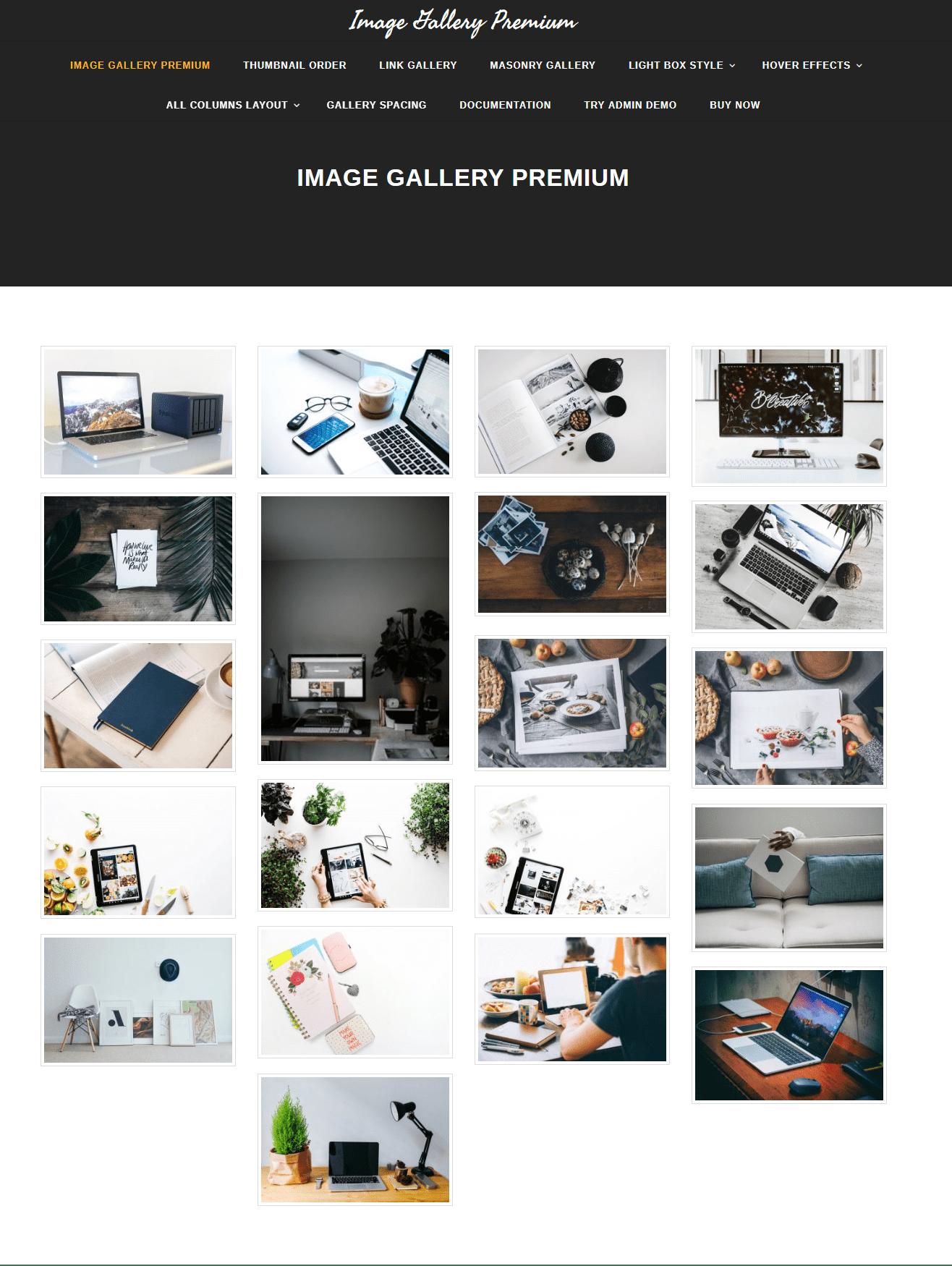 image gallery premium