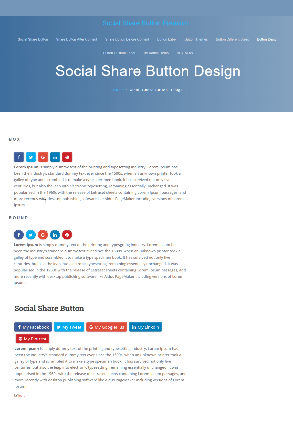 social share button premium
