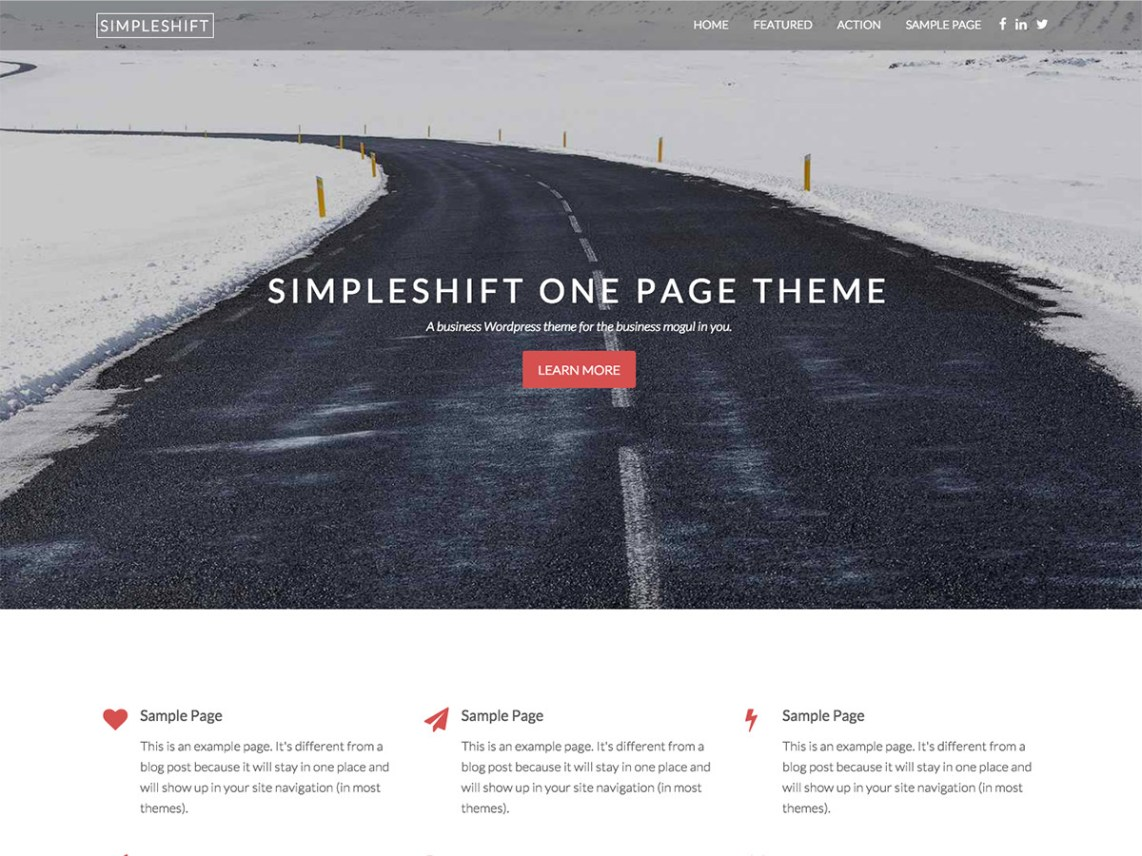 Simpleshift WordPress Theme