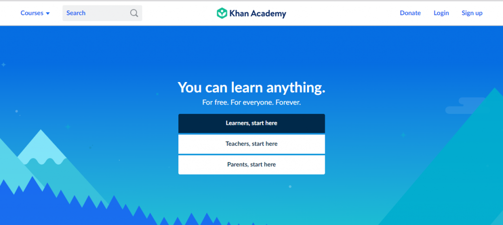 khan academy online leaning courses