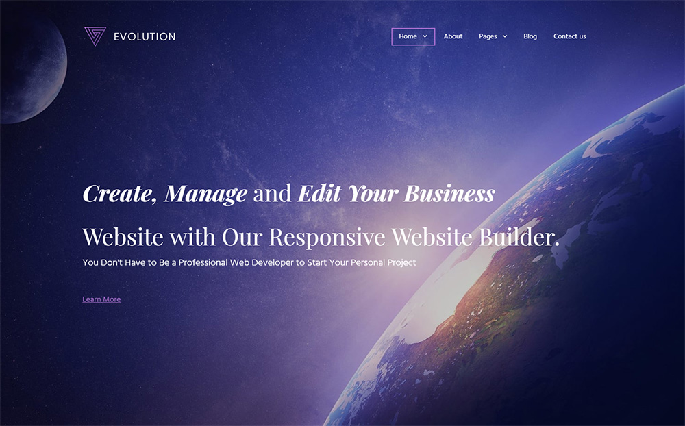 Evolution-Business-MotoCMS-Template