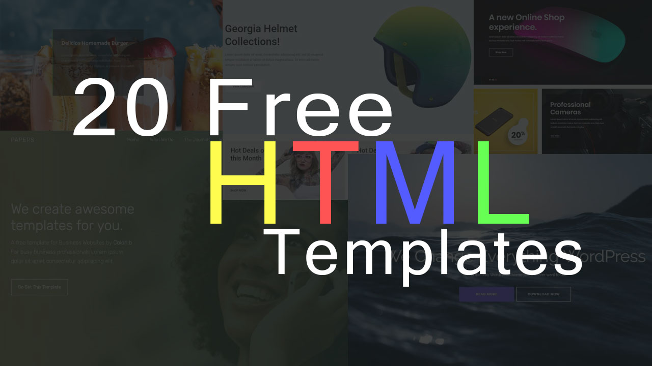 20 Free HTML Template For Your Website