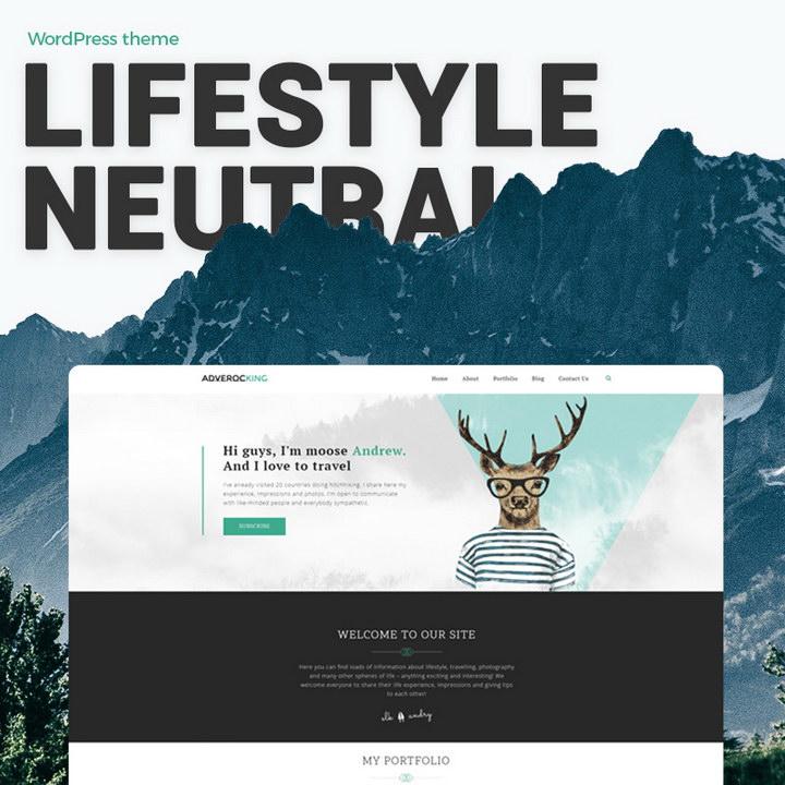 Adverocking - Lifestyle Neutral Elementor WordPress Theme