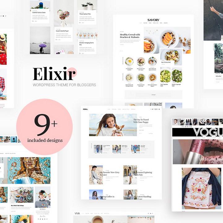 Elixir - Travel, Food, Fashion & Much More! WordPress Theme