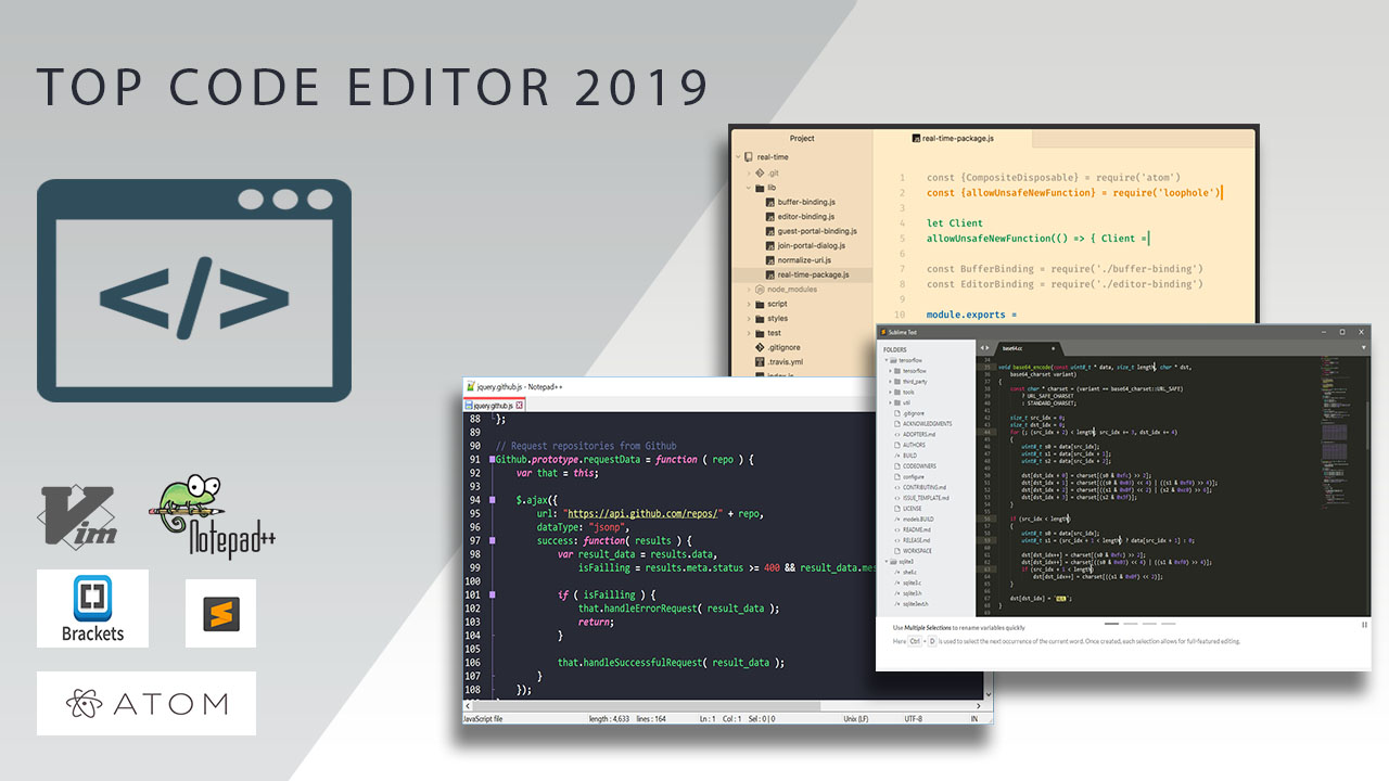 Top Code Editors 2019 For Windows Mac - Code Editors For Developers