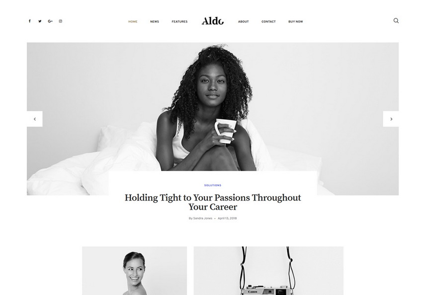 Aldo Gutenberg Blog WordPress Theme