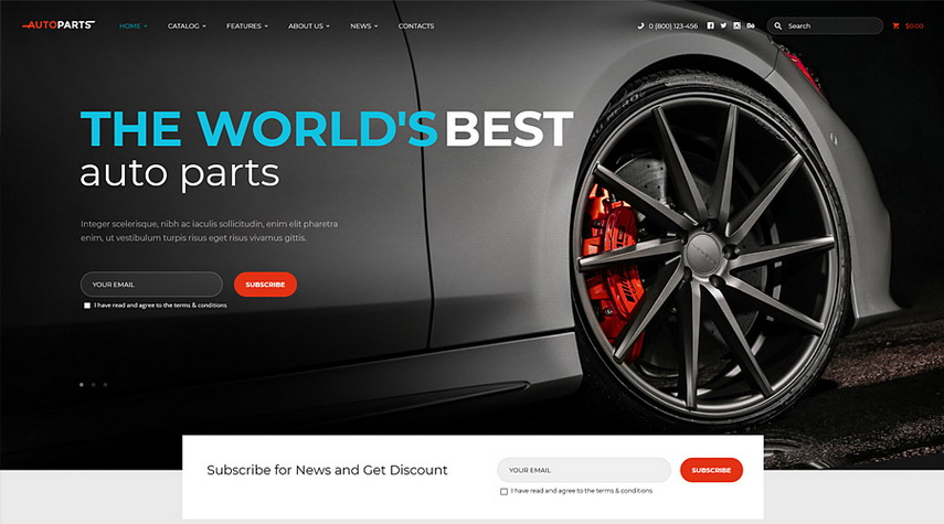 AutoParts Car Parts Store & Auto Services WordPress Theme