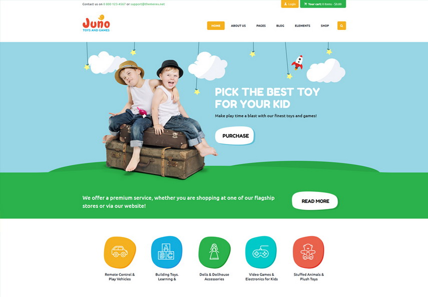 Juno Kids Toys & Games Store WordPress Theme