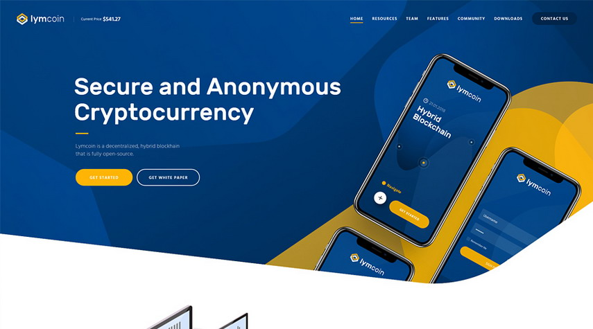 Lymcoin Cryptocurrency ICO WordPress Theme