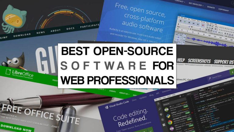 Best Open-Source Software For Web Professionals
