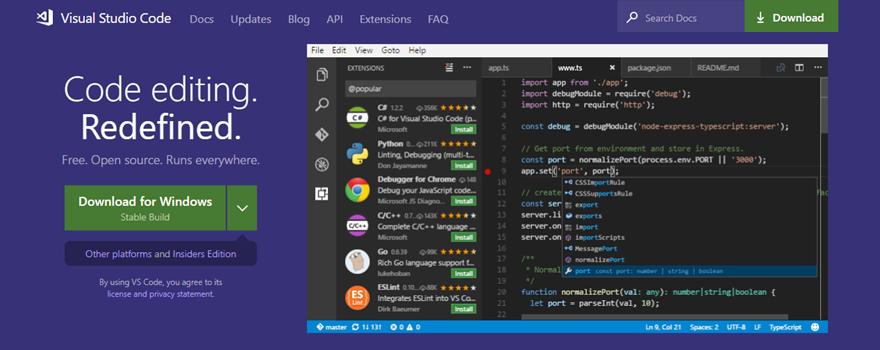 Visual Studio Code open source