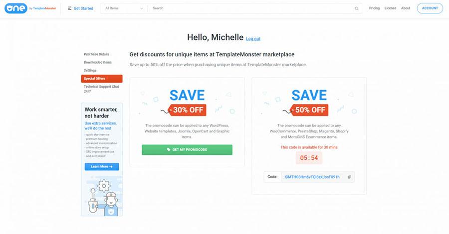 ONE subscribers get regular discounts and deals.